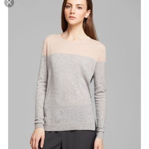 Vince Cashmere color block sweater